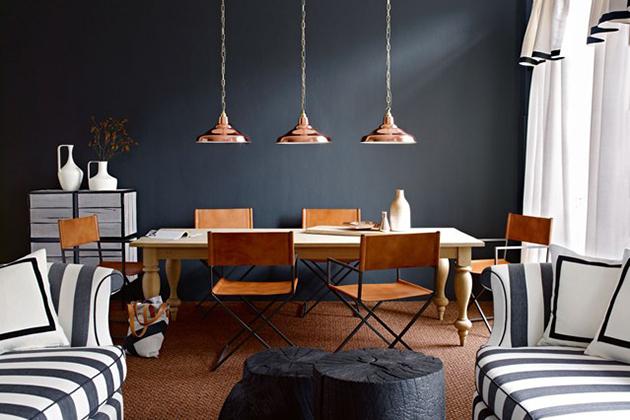 """Modern monchrome dining room"""