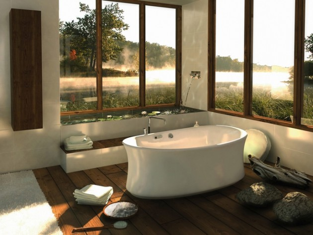 """""""Comtemporary bathroom inspired in nature"""""""