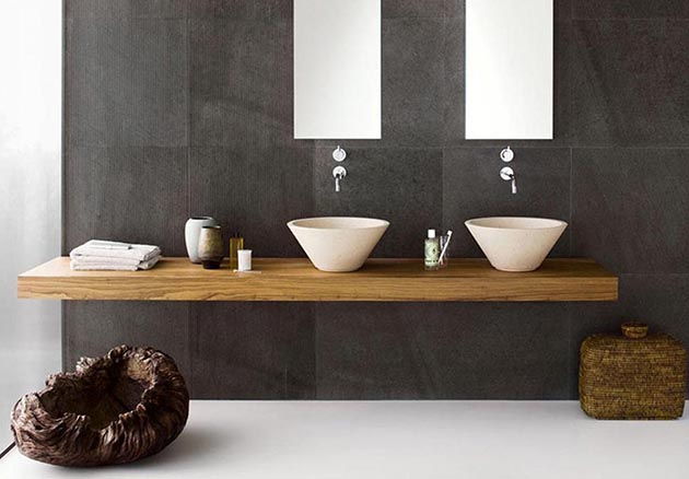 amazing sink designs for your bathroom Amazing Sink Designs for Your Bathroom bathroom awesome interior design of bathroom with grey marble themes of wall and twin mirrors and sinks put on wooden cabinet fresh and cool interior of modern bathroom designs1