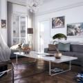 amazing contemporary gray rooms Amazing Contemporary Gray Rooms white modern living room gray chaise lounge sofa luxury fffffffffff 120x120