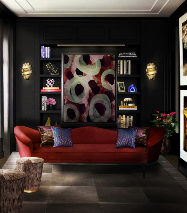 How to choose a modern sofa The Best Two Seat Sofas for your Living Room The Best Two Seat Sofas for your Living Room colette sofa tresor stool chloe sconce blackcobra rug koket projects red e1417082785263