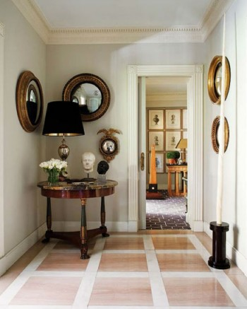 How To Decorate Your Hallway With A Convex Mirror