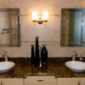 How to choose the best bathroom lighting How to choose the best bathroom lighting elegant small bathroom design ideas with shining lamps bathroom decorating ideas twins washbasin with mirror also metal shower and lamps in the wall for bathroom design wpthemesnow bathroom designs sm 120x120