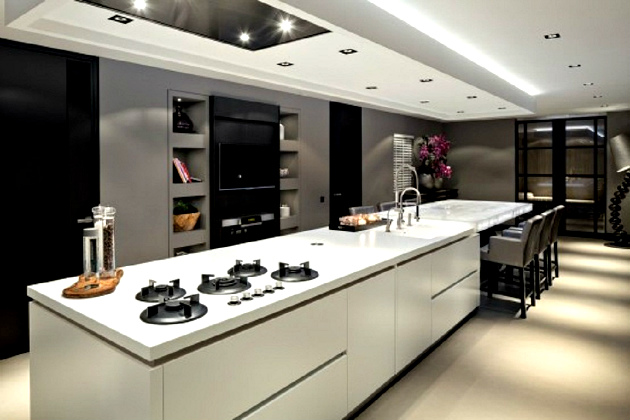 Luxury Design Ideas for a Large Kitchen Luxury Design Ideas for a Large Kitchen Luxury Design Ideas for a Large Kitchen Ultra Modern for Large Kitchen and Dining Room Villa Design