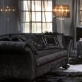 Living Room Decor with a Black Velvet Sofa