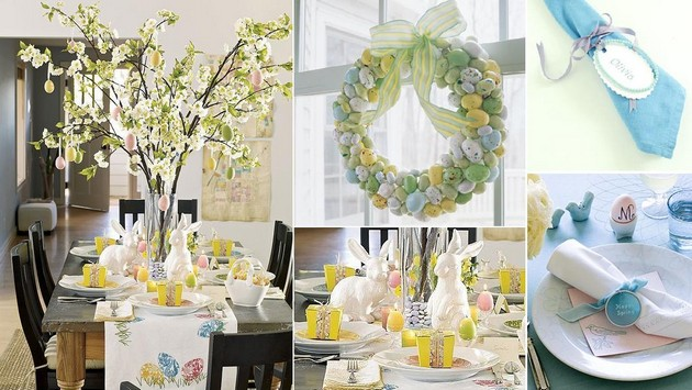 DIY Decorating: 30 Decorating Ideas for Easter Dining Table 30 Decorating Ideas for Easter Dining Table 30 Decorating Ideas for Easter Dining Table DIY Decorating Room Decor Ideas Room Ideas Easter Dining Table Decor 1