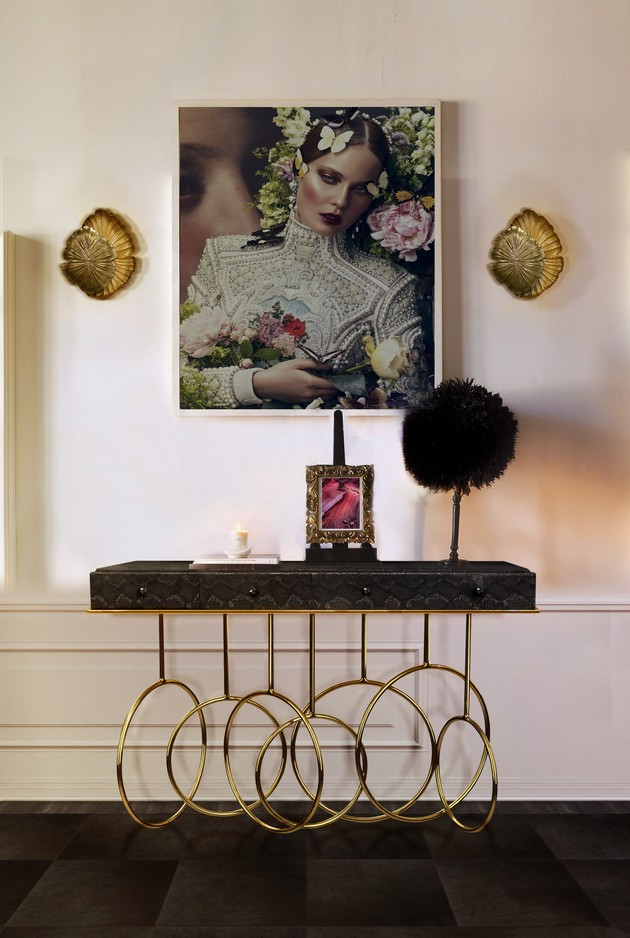 Hallway Ideas: Receive your Guests with Summer Hallway Ideas: Receive your Guests with Summer Hallway Ideas: Receive your Guests with Summer Burlesque Console Lifestyle Image