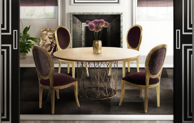 Glamourous Dining Room Design 10 Round Dining Tables for a Glamourous Dining Room Design Room Decor Ideas Room Ideas Room Design Luxury Interior Design Luxury Dining Room Luxury Dining Table Modern Dining Table 131 658x418