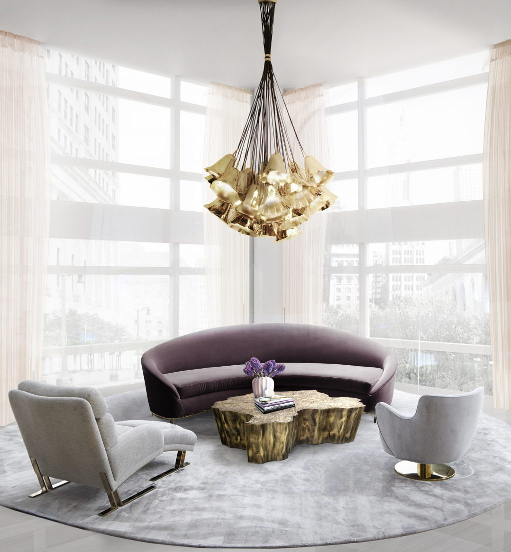 living room 2016 Trends for Living Room gia chandelier vamp sofa koket projects