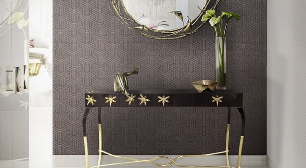Classic Chic Consoles for Hallway Design 10 Classic Chic Consoles for Hallway Design luridae console stella mirror koket projects 603x332