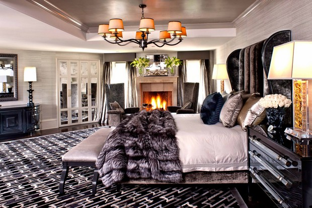 How to Decorate with Luxury Hide Rugs New Style at Home with Furs How to Get a New Style at Home with Furs Room Decor Ideas How to Decorate with Luxury Hide Rugs Luxury Rugs Luxury Interior Design Kyle Bunting Bedroom Design