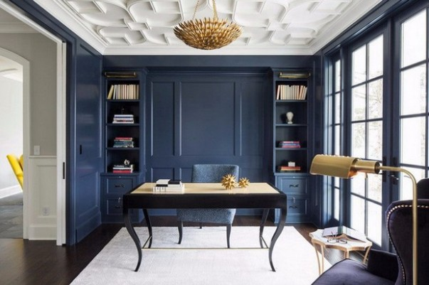 Bold Home Offices to Inspire your Creativity Bold Home Offices to Inspire your Creativity Bold Home Offices to Inspire your Creativity Room Decor Ideas Bold Home Offices to Inspire your Creativity Home Office Design Office Design Luxury Interior Design 9 603x401