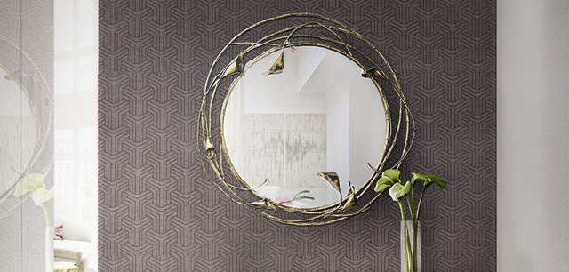 Spring Round Mirrors for Hallway Design Spring Round Mirrors for Hallway Design luridae console stella mirror koket projects
