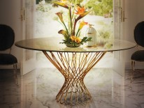 Elegant Entryway Table Designs The Most Elegant Entryway Table Designs vivre chandelier allure dining table enchanted chair koket projects e1460036392250 206x155