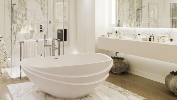 Glamorous Bathrooms by Kelly Hoppen Glamorous Bathrooms by Kelly Hoppen to Copy Room Decor Ideas Glamorous Bathrooms by Kelly Hoppen to Copy Luxury Home Luxury Interior Design Bathroom Ideas Kelly Hoppen Interiors 1 1 603x340