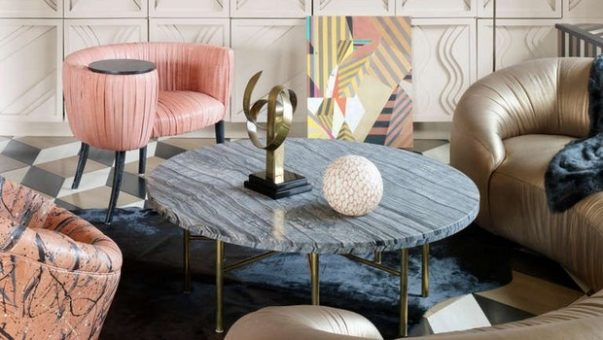 Marble Designs on Home Interiors Trend Alert: Marble Designs on Home Interiors Room Decor Ideas Living Room Ideas by Kelly Wearstler to copy for Summer Luxury Living Room Living Room Design 8 603x340