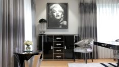 Art Deco for Home Interiors Trend Alert: The Comeback of Art Deco for Home Interiors peter staunton interior design rock n roll chic harbury country house marilyn monroe dining room 10 233x132