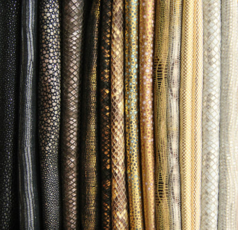 Home Decor Trends: Metallic Leather home decor Home Decor Trends: Metallic Leather textiles 1 466x450