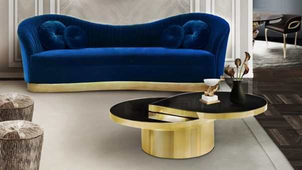 Playful Luxury Living Room Autumn Trends: The Playful Luxury Living Room reve mirror kelly sofa tears cocktail table koket projects1 2 603x340