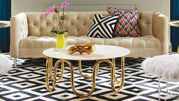 home decor trends Home Decor Trends: Get the Modern American Glamour at Home modern baxter sofa fall13 jonathan adler 1