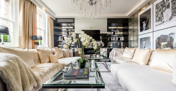 alexander mcqueen house Celebrity Homes: Alexander McQueen House Restoration in London Celebrity Homes Alexander McQueens House Restoration in London living room black and white 1