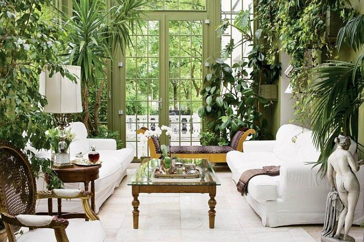 Interior Garden 10 Incredibly Good Room Ideas for an Interior Garden Amazing Home Indoor Design Decorating Ideas In A Living Room Sun Room Look Fresh Room Also White Sofa Glass Table Statue And White Tiles