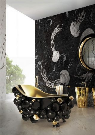 Luxury Bathroom Design Ideas 10 Cool and Stylish Black Luxury Bathroom Design Ideas Room Decor Ideas Bathroom Ideas Luxury Bathroom Black Bathroom Design Luxury Interior Design 7 319x450