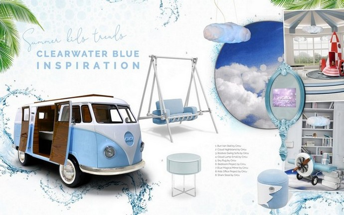 Interior Design Trends 2019 - Clearwater Blue for Kids