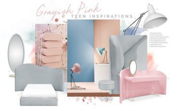 Kids Decor Trends – Pink and Grey is Perfect for Teenage Girls Kids Decor Trends Pink and Grey is Perfect for Teenage Girls 6 350x219