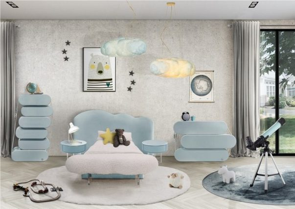 Baby Blue Decor For Your Kids Bedroom Baby Blue Decor For Your Kids Bedroom 2 603x426