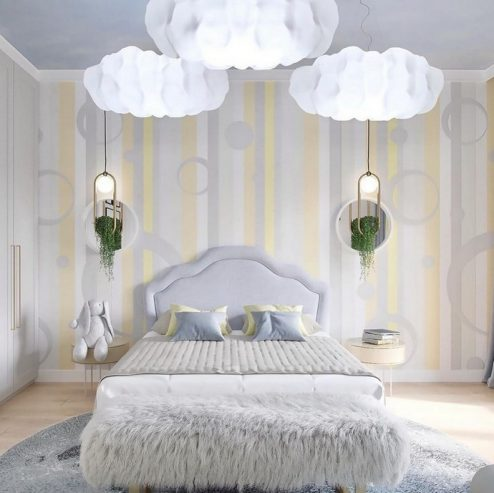 A Cloudy Kids Bedroom By BSK Design A Cloudy Kids Bedroom By BSK Design 1 494x493