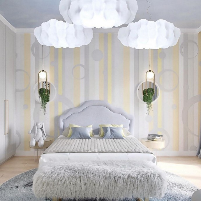 A Cloudy Kids Bedroom By BSK Design A Cloudy Kids Bedroom By BSK Design 1