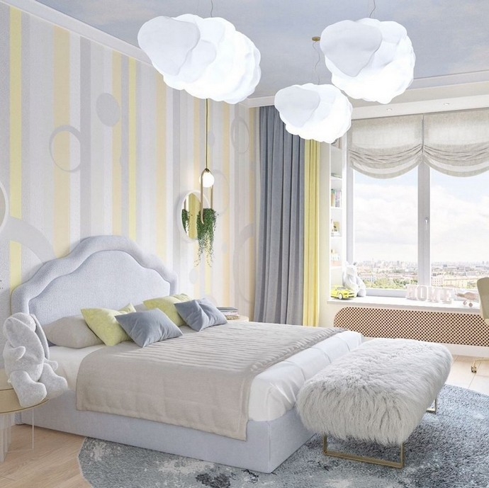 A Cloudy Kids Bedroom By BSK Design A Cloudy Kids Bedroom By BSK Design 2