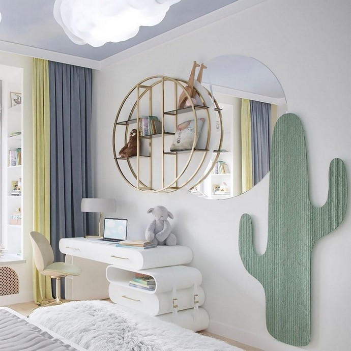 A Cloudy Kids Bedroom By BSK Design A Cloudy Kids Bedroom By BSK Design 3