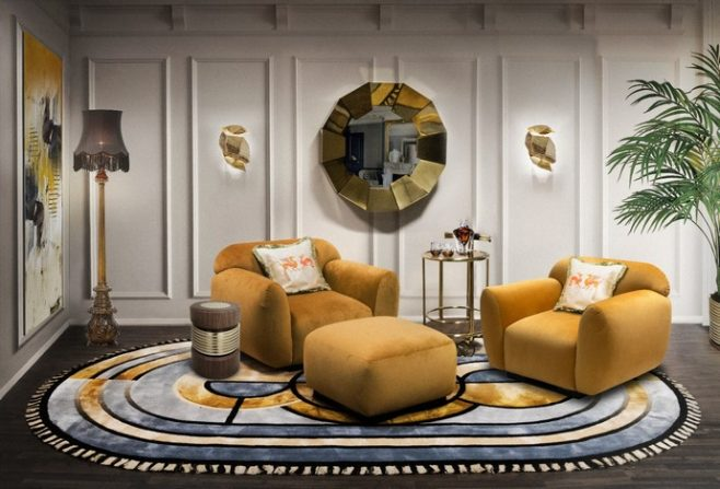 Summer Trends 2020 – Yellow Rugs to Bright Up the Living Room Summer Trends 2020 Yellow Rugs to Bright Up the Living Room 1 658x447